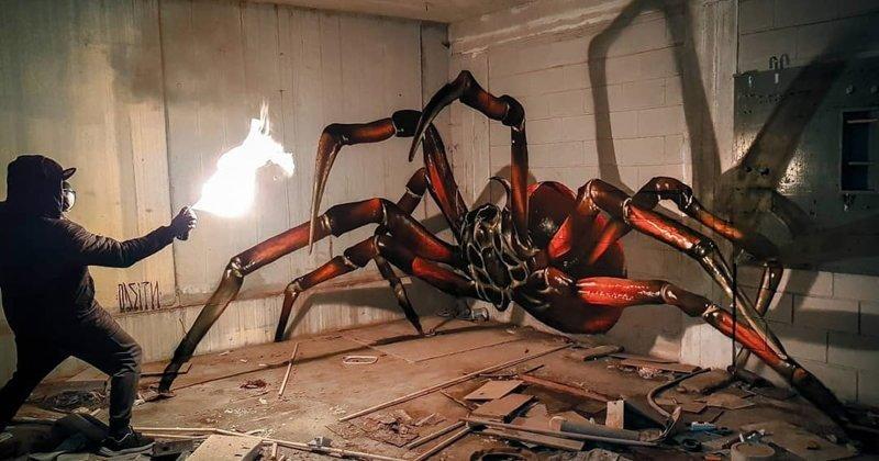 Планета насекомых: сверхреалистичные 3D-граффити Серхио Одейта (10фото+1видео)