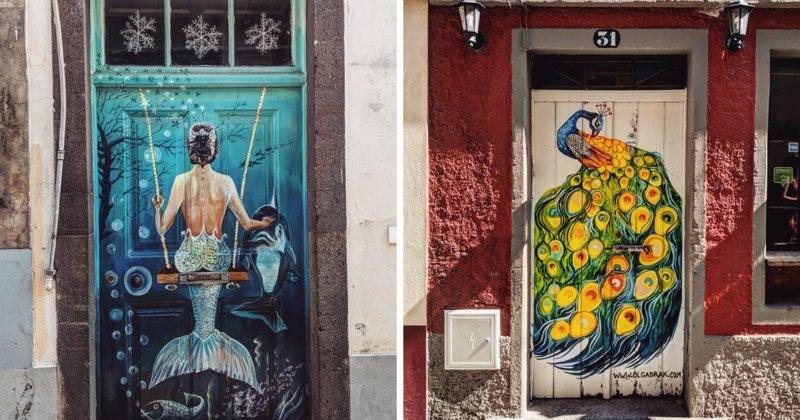 Уличная галерея: расписные двери острова Мадейра (29фото)