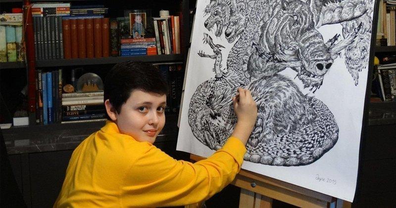 15-летний художник рисует животных с фотографической точностью (20фото+1видео)