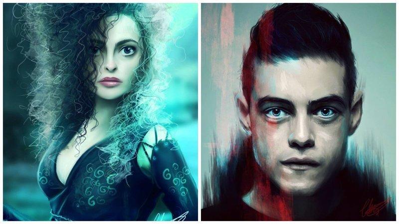 Цифровые портреты известных персонажей поп-культуры от Шарлотты Лебретон (26фото)