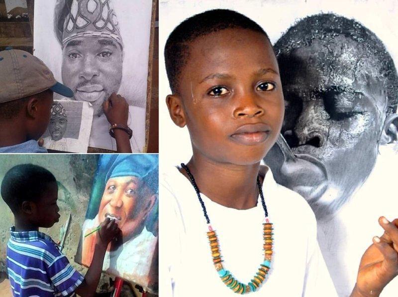 Африканский мальчик стал профессиональным художником в 8 лет (9фото)