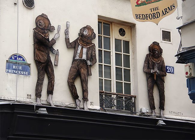 Художник, который умеет оживлять скучные городские закоулки (57фото)