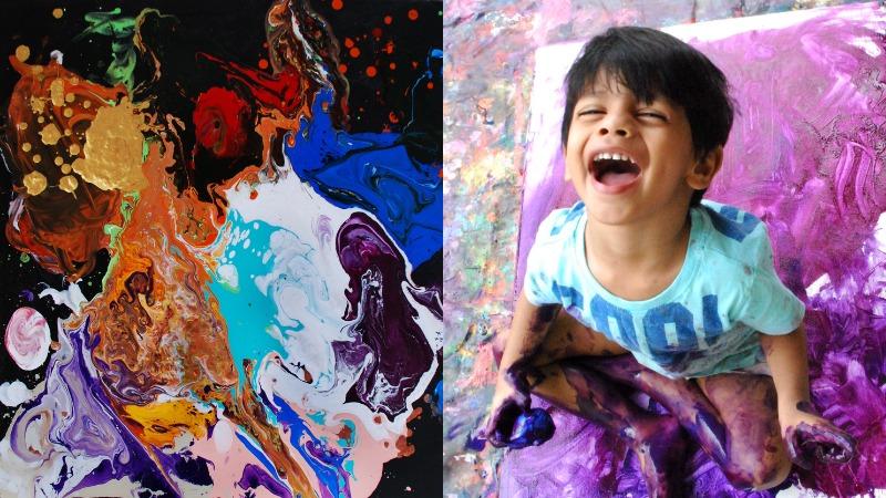 Картины 4-летнего художника продаются за тысячи долларов (8 фото)