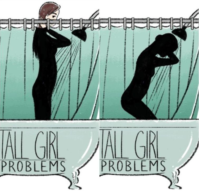 Художник иллюстрирует проблемы высоких и низких девушек и попадает прямо в яблочко (14 фото)