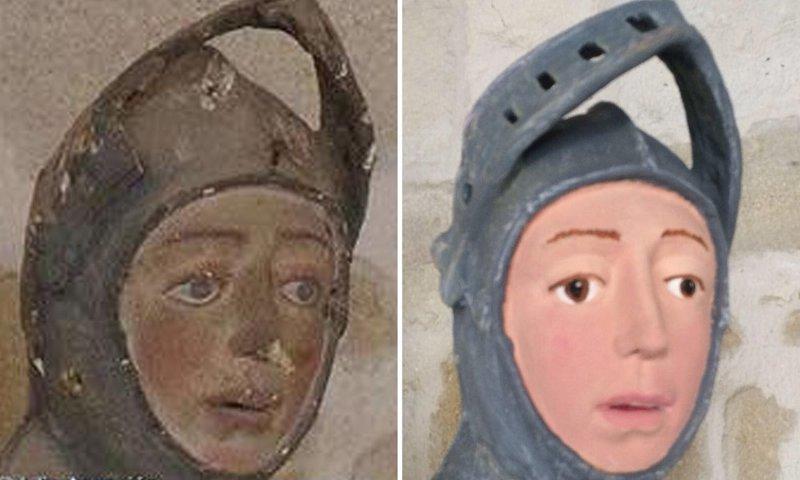 Учительница отреставрировала старинную статую и ужаснула испанцев (9фото)