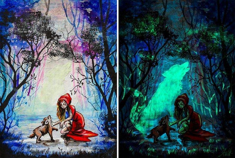 Эти картины раскрывают свой истинный смысл только в темноте (24фото)