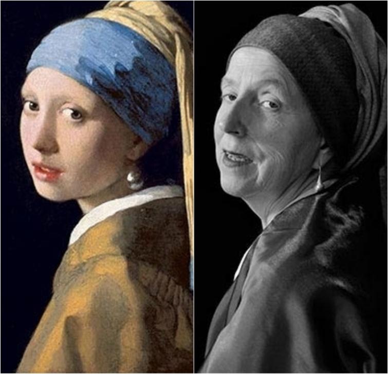 66-летняя женщина воссоздает знаменитые картины, делая очаровательные автопортреты (13 фото)