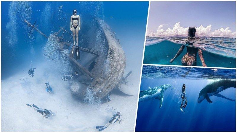 Удивительные фотографии, которые были сняты под водой (26фото)