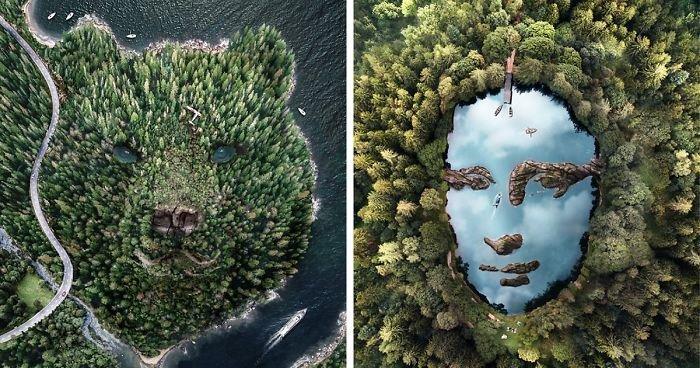 Французский цифровой художник создает фото манипуляции, навеянные ему парейдолией (8фото)