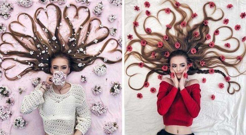 Художница делает невероятные фотографии своих волос, подчёркивая их необычайную красоту (28фото)