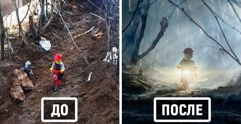 Фотограф снимает игрушки Lego и сам создаёт для них спецэффекты (32фото)