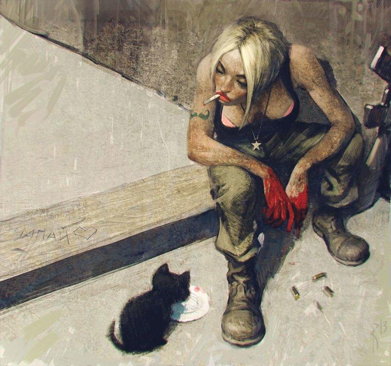 Недетские рисунки этого русского художника весьма неоднозначны (19фото)