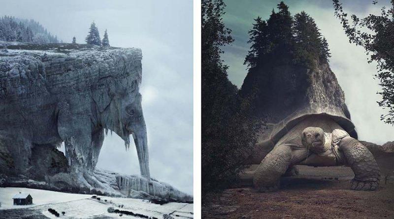 Художник создает сюрреалистические пейзажи, балансирующие между природой и другим измерением (24фото)
