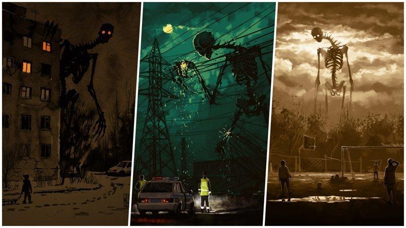 Мрачные и загадочные существа на тёмных российских улицах (30фото)