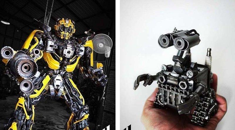 Художники из Таиланда создают великолепные скульптуры из металлолома (46фото)