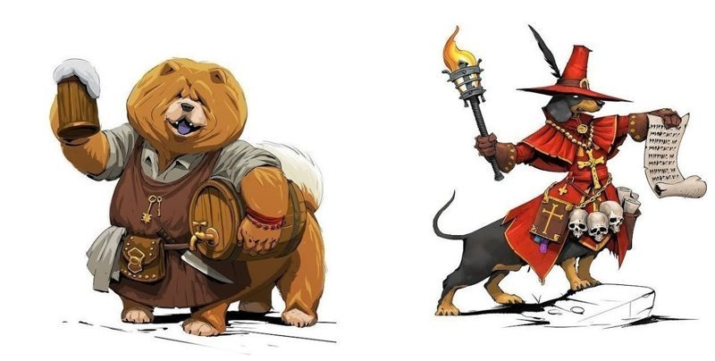 Псы войны: российский художник представил, что если бы собаки были воинами (18фото)