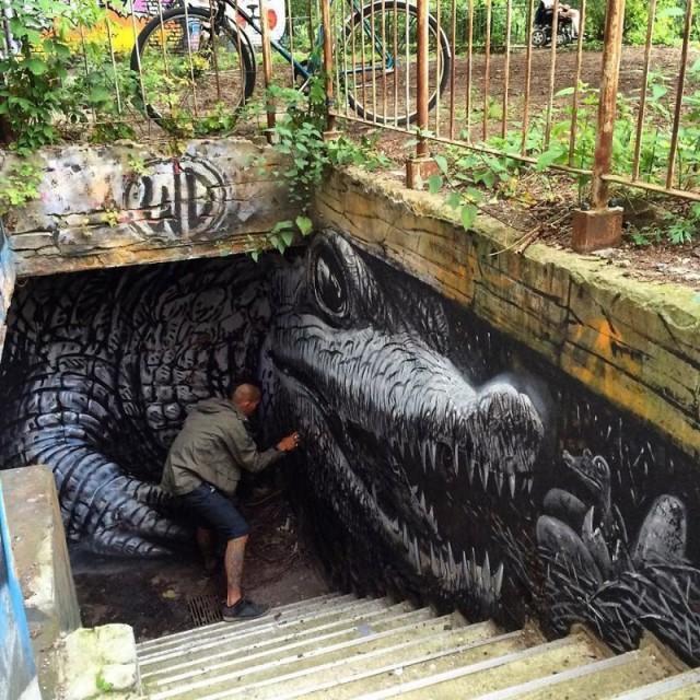 Впечатляющие фотореалистичные граффити (44 фото)