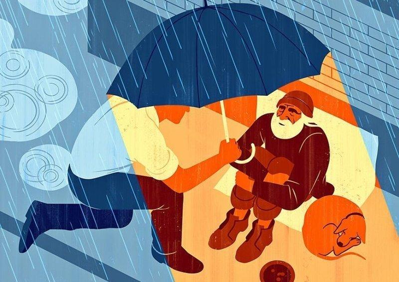Заставляет задуматься: иллюстрации итальянского художника, заключающие в себе метафоры и парадоксы (124фото)