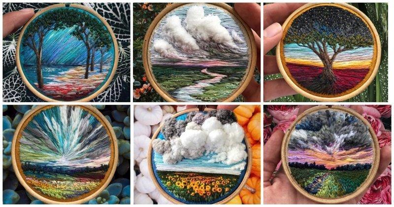 Когда у художника вместо кистей и красок в руках иголка с нитками (23фото)