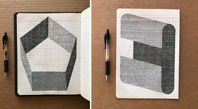 Медитативные рисунки шариковой ручкой Альберта Шамильяра (12фото)