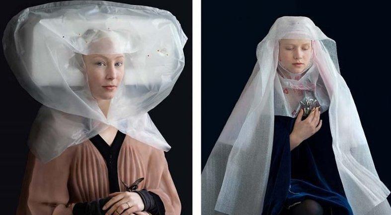 Художница создает из упаковки костюмы в стиле эпохи Возрождения (10фото)