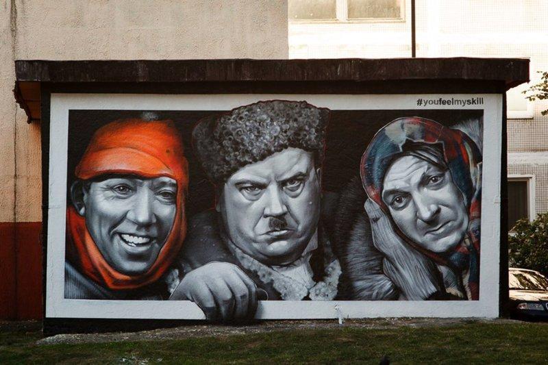 Стрит-арт: Несколько примеров уличного искусства (21фото)