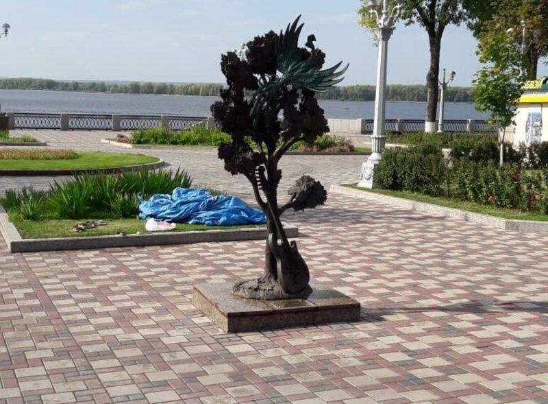 Скульптуру « Клён», посвящённую знаменитой песне ВИА « Синяя птица», открыли в Самаре (4фото)