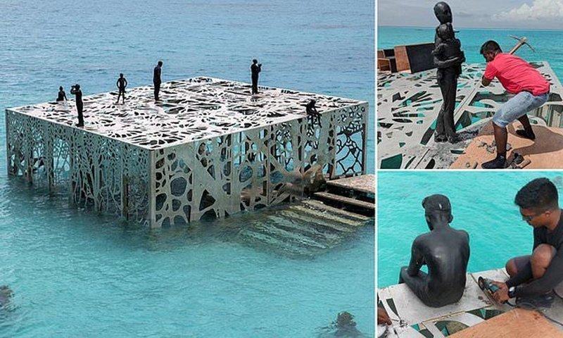 На Мальдивах по приказу властей разрушили уникальную галерею скульптур (14фото+1видео)