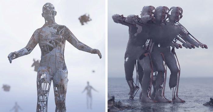Художник оживил детские фантазии в объемных цифровых скульптурах (8фото)
