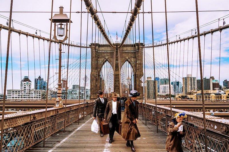 Фотопроект: иммигранты начала 20 века на современных фотографиях Нью-Йорка (10фото)