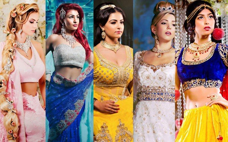 Фотохудожник представил, что было бы, если диснеевские принцессы жили в Индии (10фото)