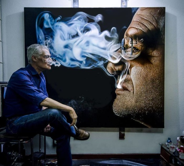 Гиперреалистичные картины Камалки Лауреано (21 фото)