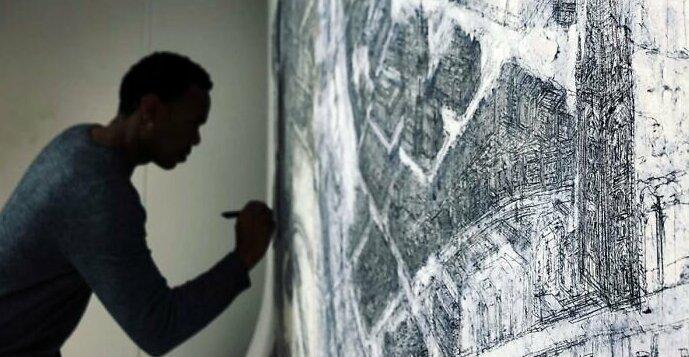 Художник рисует детальные карты городов с высоты птичьего полета (11фото)