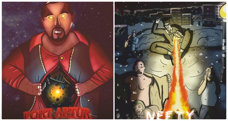 Художники изобразили колоритные омские улицы в виде персонажей (10фото)