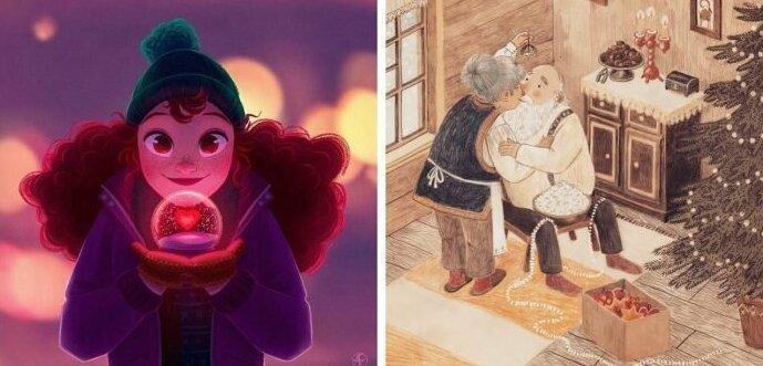 30 иллюстраций, чтобы наконец почувствовать новогоднее настроение (30фото)
