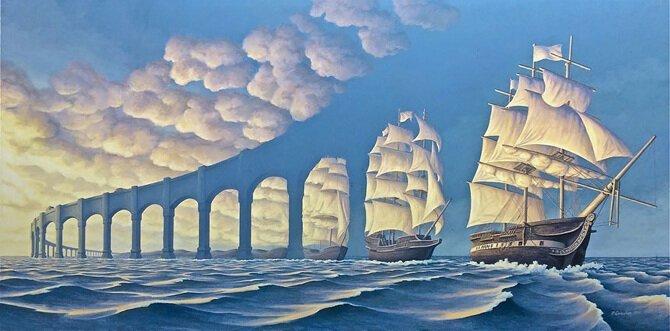 Психоделические оптические иллюзии, которые собьют с толку любого (13фото)