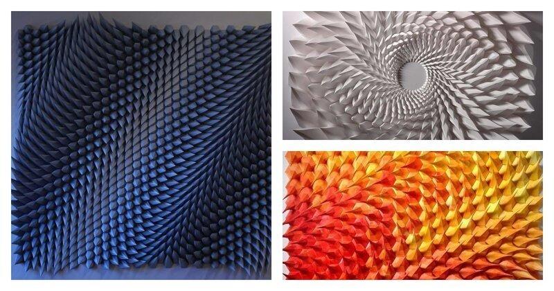 Инженер создает из бумаги геометрические картины и гифки, от которых глаза сходят с ума (31фото)