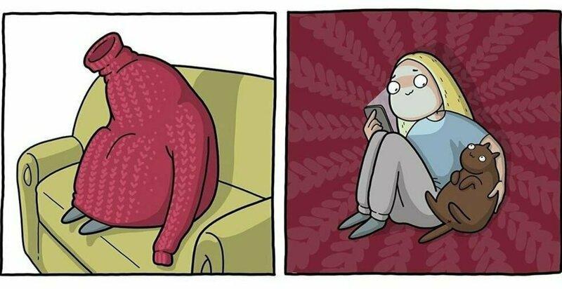 20 комиксов от челябинской художницы, высмеивающие проблемы повседневной жизни (22фото)
