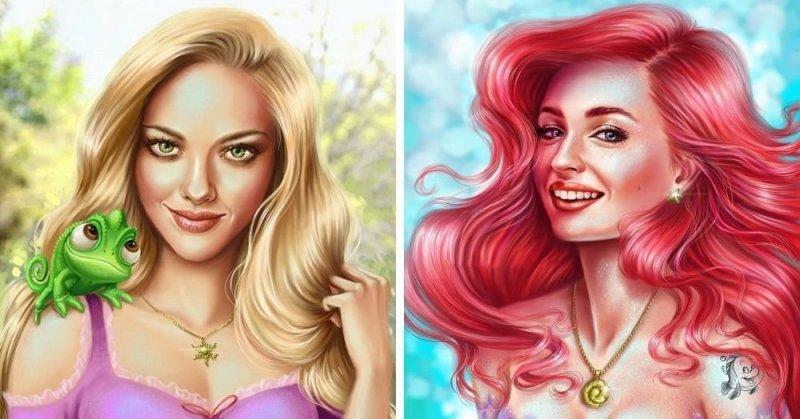 Художница представила, какие известные актрисы могли бы сыграть диснеевских принцесс (10фото)