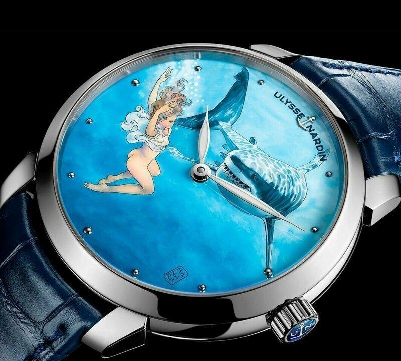 Итальянский художник украсил наручные часы обнажёнными девушками и русалками (8фото)