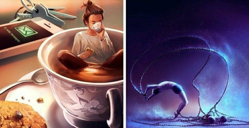 20 волшебных иллюстраций о чувствах и эмоциях от клинического психолога из Франции (21фото)
