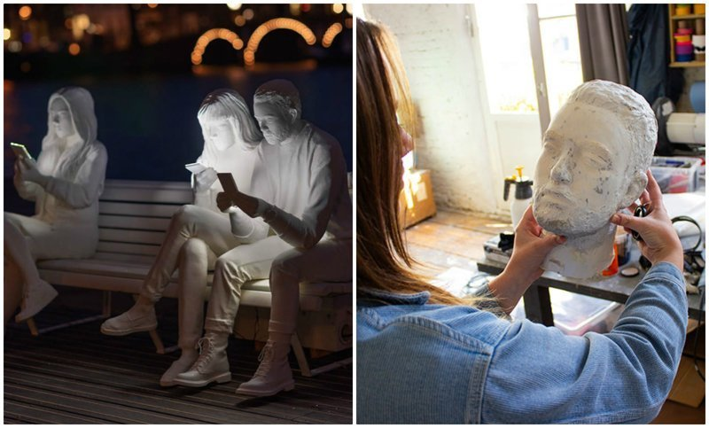 Художница создала скульптуру, показывающую зависимость людей от гаджетов (12фото)