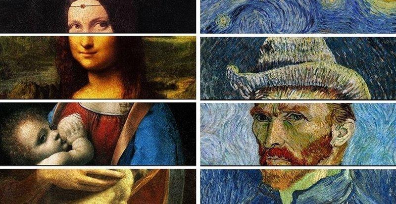 Дизайнер наглядно показал уникальность стилей легендарных художников, объединив 4 их картины в одну (15фото)