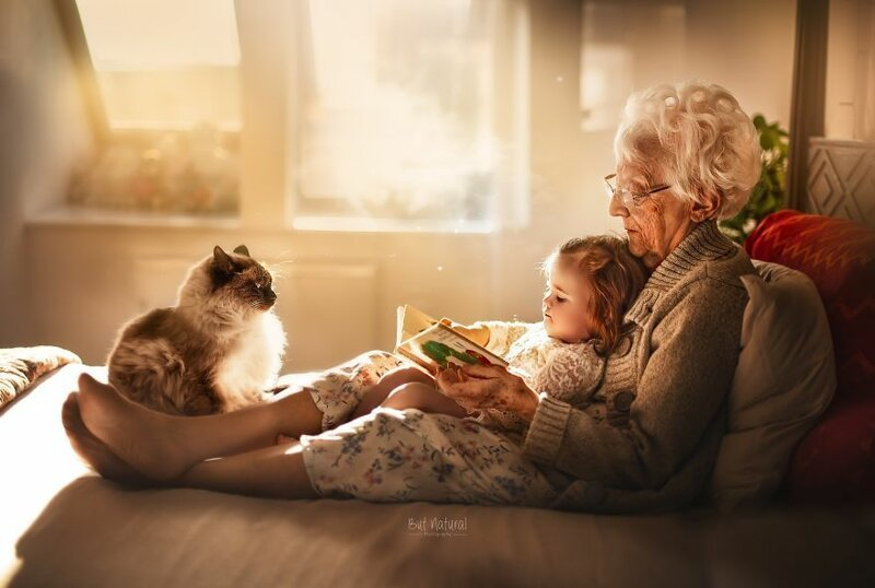 Семейные фотографии бабушек и дедушек с внуками (12фото)
