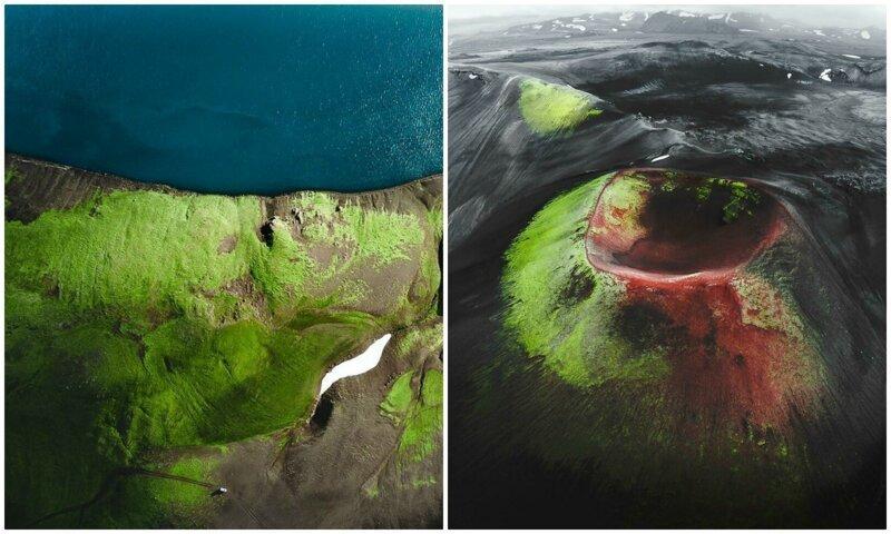 Исландия: захватывающие дух пейзажи в аэрофотографиях (27фото)