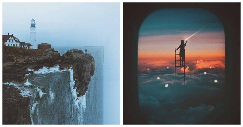 Сюрреалистические миры Херри Сусанто, стирающего грань между реальностью и вымыслом (38фото)