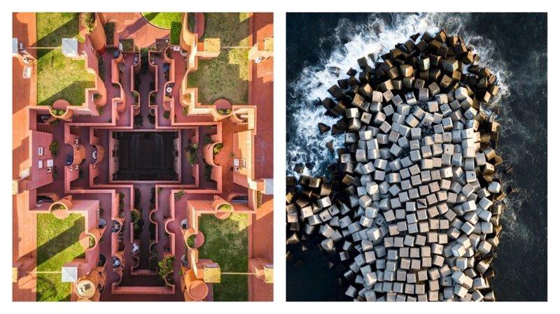 Уникальная геометрия Барселоны: вид сверху (10фото)