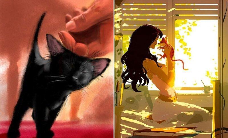 15 очень трогательных картинок про любовь к животным (16фото)