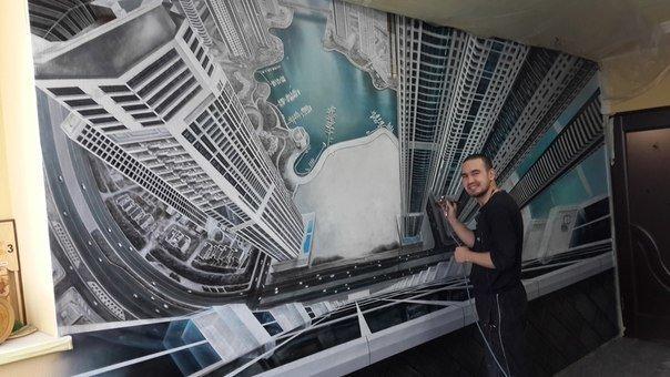 Роспись стен Дубай с высоты (6фото)