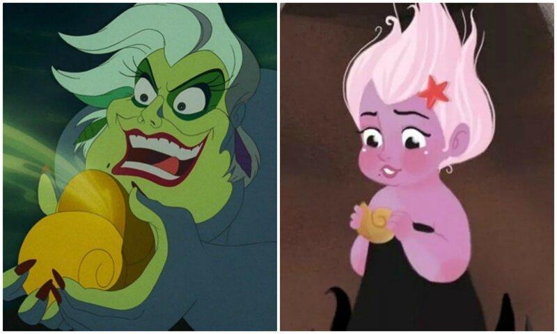 Как выглядели главные мультяшные злодейки в детстве (15фото)